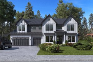 Craftsman Exterior - Front Elevation Plan #1066-48