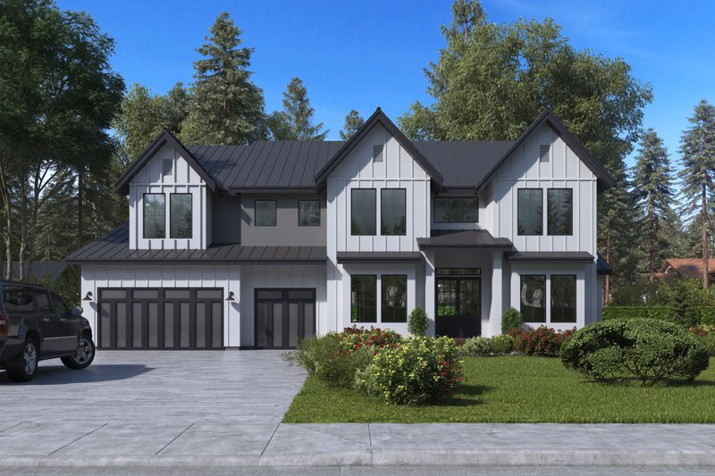 Architectural House Design - Craftsman Exterior - Front Elevation Plan #1066-48