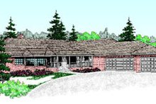 Ranch Exterior - Front Elevation Plan #60-190