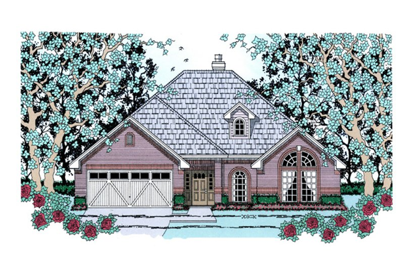 Traditional Exterior - Front Elevation Plan #42-388 - Houseplans.com