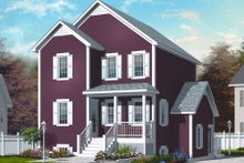 Country Exterior - Front Elevation Plan #23-2180
