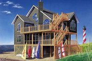 Beach Style House Plan - 5 Beds 3.5 Baths 2392 Sq/Ft Plan #23-2041 Exterior - Front Elevation