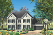 European Style House Plan - 4 Beds 3 Baths 4273 Sq/Ft Plan #25-4665 Exterior - Front Elevation