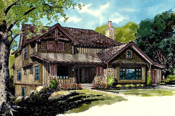 Country Exterior - Front Elevation Plan #942-46