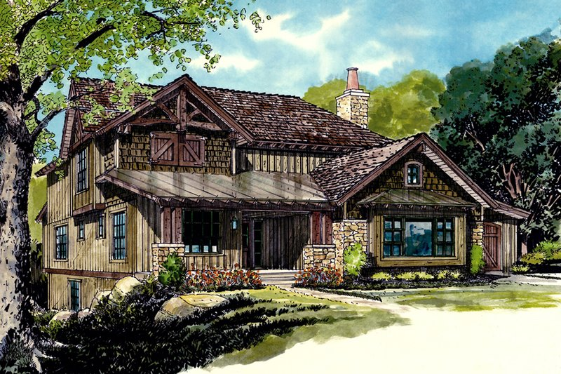 Country Style House Plan - 5 Beds 3.5 Baths 2687 Sq/Ft Plan #942-46 Exterior - Front Elevation