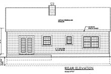 Dream House Plan - Country Exterior - Rear Elevation Plan #3-120
