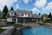 Farmhouse Style House Plan - 4 Beds 3.5 Baths 3052 Sq/Ft Plan #51-1145 Exterior - Rear Elevation