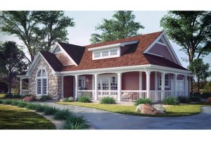 Home Plan Design - Farmhouse Exterior - Front Elevation Plan #57-178