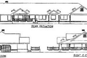 Ranch Style House Plan - 5 Beds 3 Baths 2596 Sq/Ft Plan #60-207 Exterior - Rear Elevation