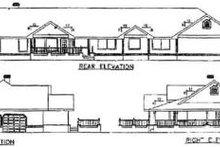 Ranch Exterior - Rear Elevation Plan #60-207