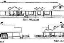 Home Plan - Ranch Exterior - Rear Elevation Plan #60-207