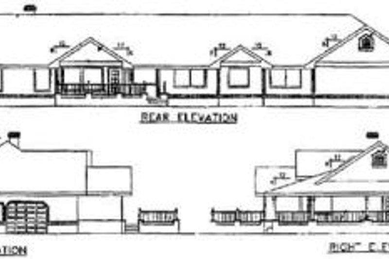 Ranch Exterior - Rear Elevation Plan #60-207 - Houseplans.com