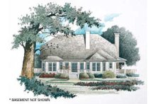 Country Exterior - Rear Elevation Plan #429-20
