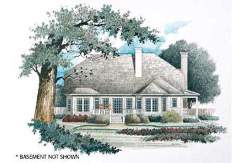 Country Exterior - Rear Elevation Plan #429-20 - Houseplans.com