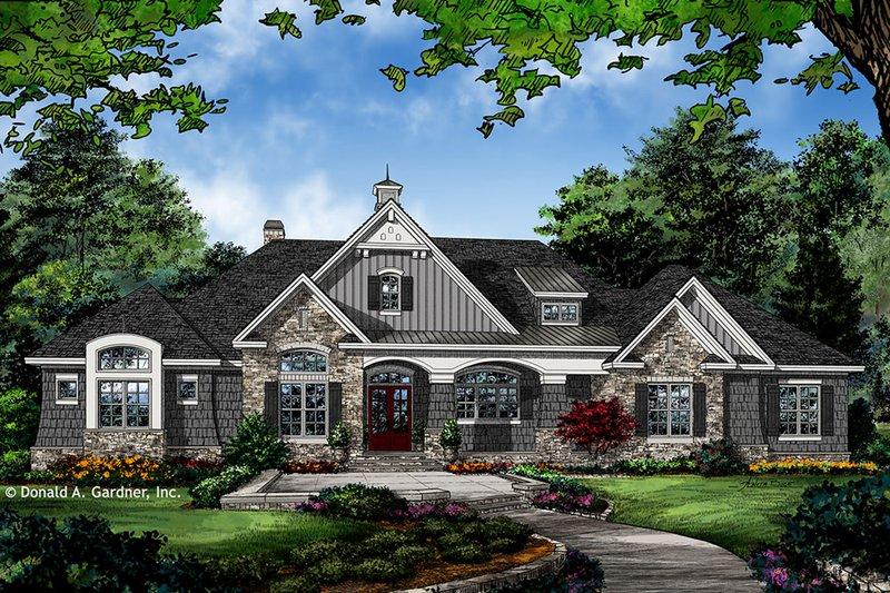 European Style House Plan - 4 Beds 3 Baths 2910 Sq/Ft Plan #929-1023