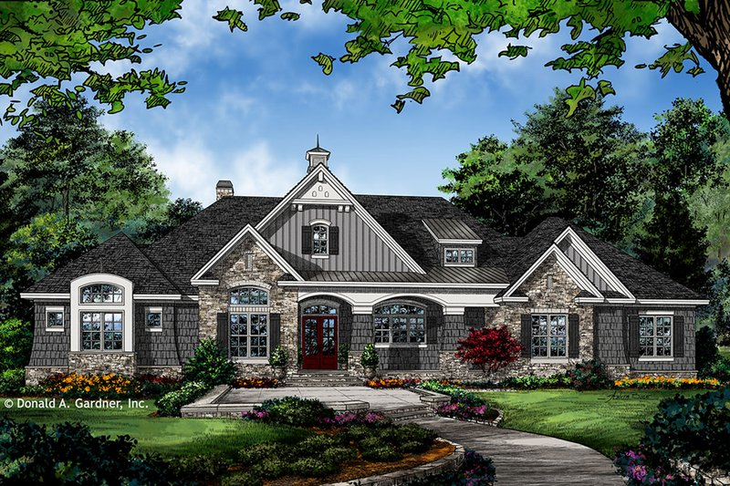 Architectural House Design - European Exterior - Front Elevation Plan #929-1023