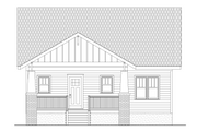 Craftsman Style House Plan - 3 Beds 2 Baths 1905 Sq/Ft Plan #461-31 Exterior - Rear Elevation