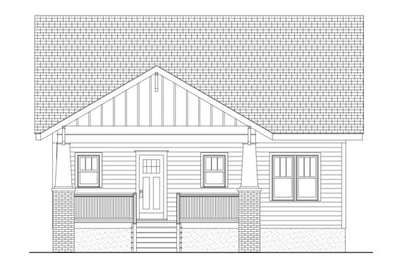 Craftsman Exterior - Rear Elevation Plan #461-31