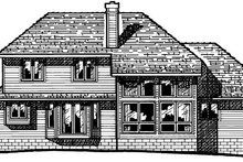 Dream House Plan - Traditional Exterior - Rear Elevation Plan #20-665