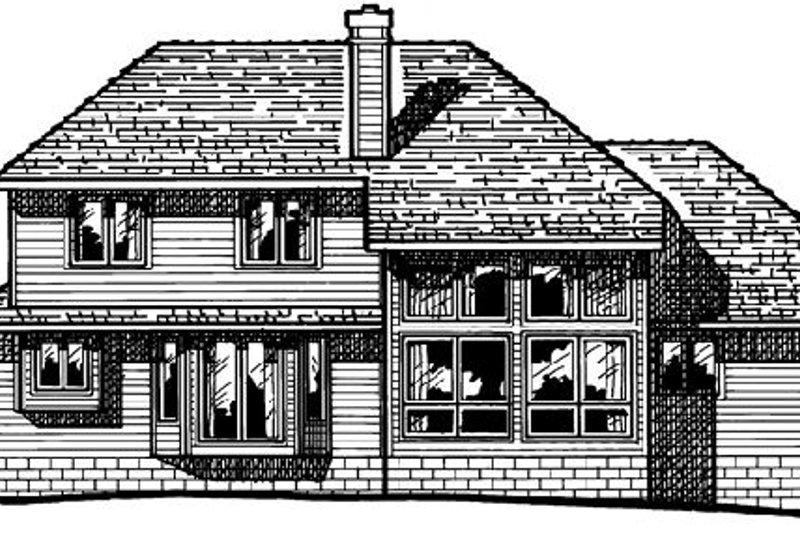 Traditional Exterior - Rear Elevation Plan #20-665 - Houseplans.com