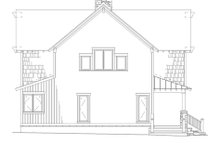 House Plan Design - Country Exterior - Rear Elevation Plan #17-2361