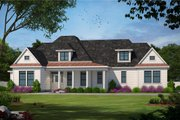 Traditional Style House Plan - 4 Beds 3 Baths 2040 Sq/Ft Plan #20-684 Exterior - Front Elevation