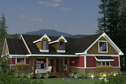 Craftsman Style House Plan - 3 Beds 2 Baths 2034 Sq/Ft Plan #51-520 Exterior - Front Elevation