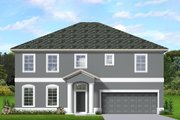 Traditional Style House Plan - 3 Beds 3.5 Baths 2552 Sq/Ft Plan #1058-200 Exterior - Front Elevation