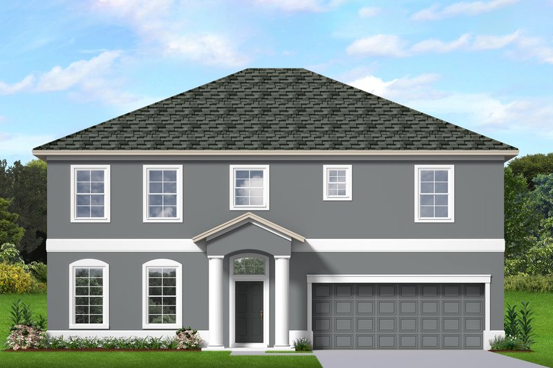 Architectural House Design - Traditional Exterior - Front Elevation Plan #1058-200