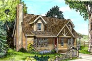 Cottage Style House Plan - 3 Beds 2.5 Baths 1624 Sq/Ft Plan #140-123 Exterior - Front Elevation