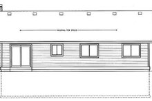 Ranch Exterior - Rear Elevation Plan #92-110