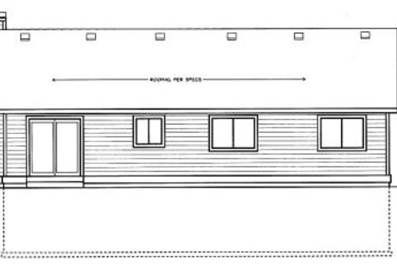 Ranch Exterior - Rear Elevation Plan #92-110 - Houseplans.com