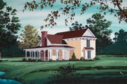 Country Style House Plan - 3 Beds 2.5 Baths 2167 Sq/Ft Plan #45-344 Exterior - Front Elevation