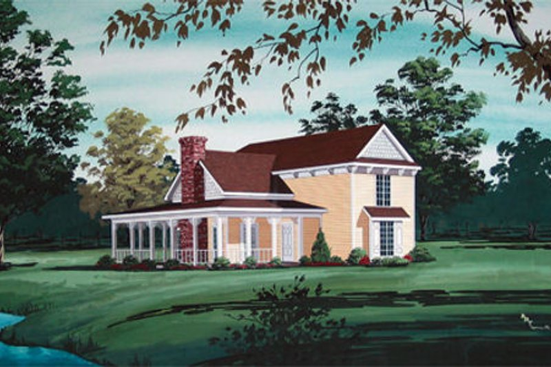 Country Exterior - Front Elevation Plan #45-344