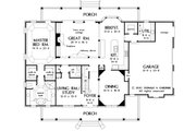 Country Style House Plan - 4 Beds 3.5 Baths 3167 Sq/Ft Plan #929-12 Floor Plan - Main Floor Plan