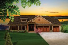 House Plan Design - Craftsman Exterior - Front Elevation Plan #70-1097