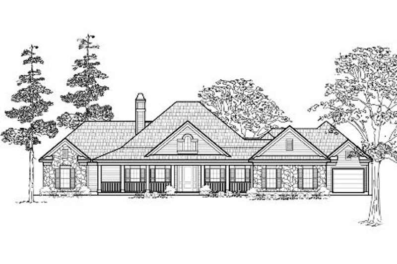 Traditional Exterior - Front Elevation Plan #61-219 - Houseplans.com