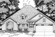 Traditional Style House Plan - 4 Beds 2 Baths 1859 Sq/Ft Plan #42-171 Exterior - Front Elevation