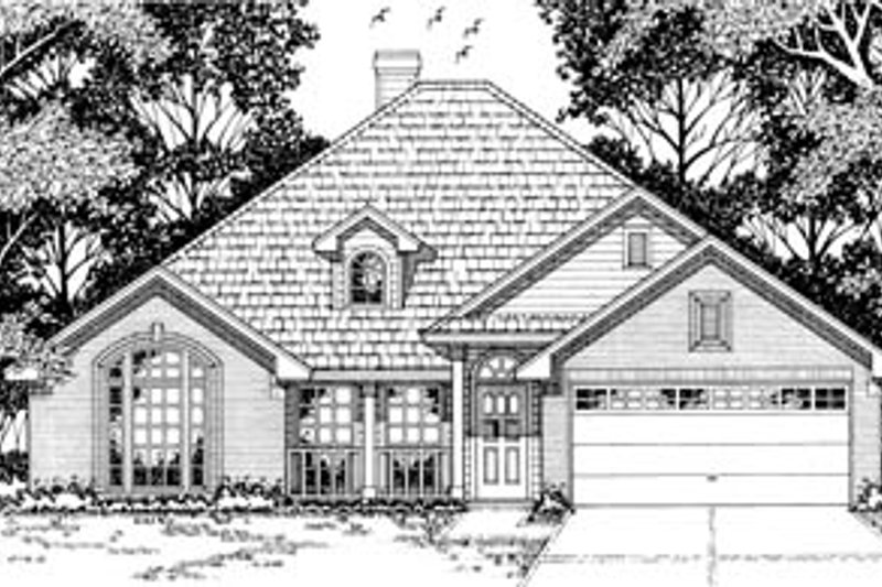 Traditional Style House Plan - 4 Beds 2 Baths 1859 Sq/Ft Plan #42-171