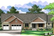 Craftsman Style House Plan - 2 Beds 2 Baths 2311 Sq/Ft Plan #51-355 Exterior - Other Elevation