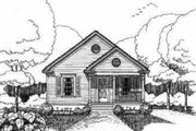 Bungalow Style House Plan - 3 Beds 2 Baths 1092 Sq/Ft Plan #79-116 Exterior - Front Elevation