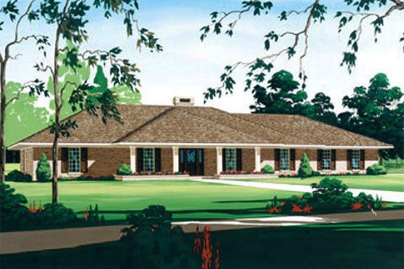 Home Plan Design - Ranch Exterior - Front Elevation Plan #45-153