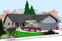 Home Plan - Ranch Exterior - Front Elevation Plan #60-611