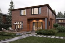 Architectural House Design - Contemporary Exterior - Rear Elevation Plan #1066-7