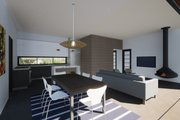 Modern Style House Plan - 2 Beds 2 Baths 991 Sq/Ft Plan #933-5 Interior - Family Room