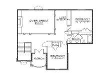 European Floor Plan - Upper Floor Plan Plan #5-382