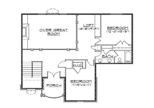 European Floor Plan - Upper Floor Plan #5-382