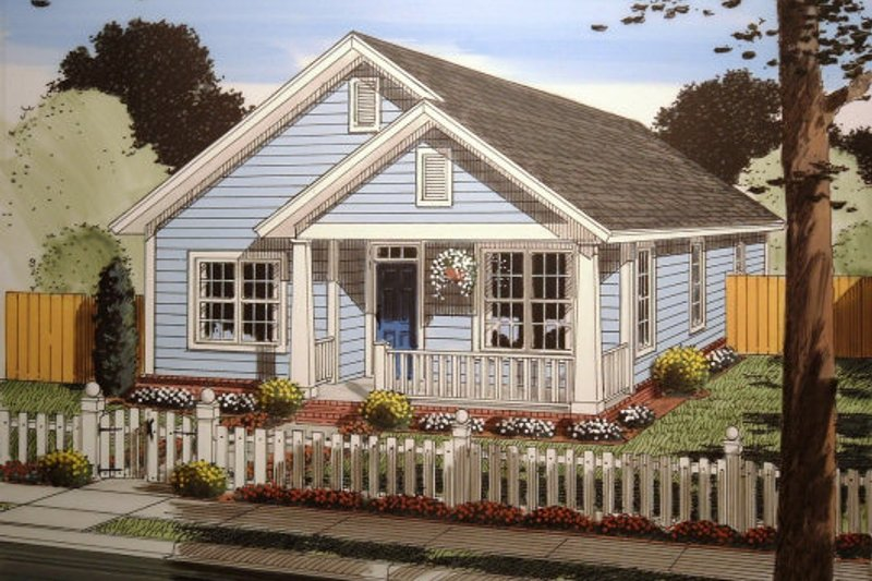 Cottage Exterior - Front Elevation Plan #513-5