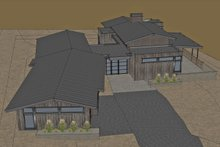 Architectural House Design - Aerial Front Rendering