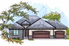 Home Plan - European Exterior - Front Elevation Plan #70-988